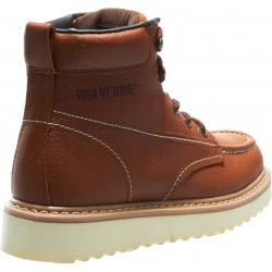 Work Wedge Brown  Leather Mens
