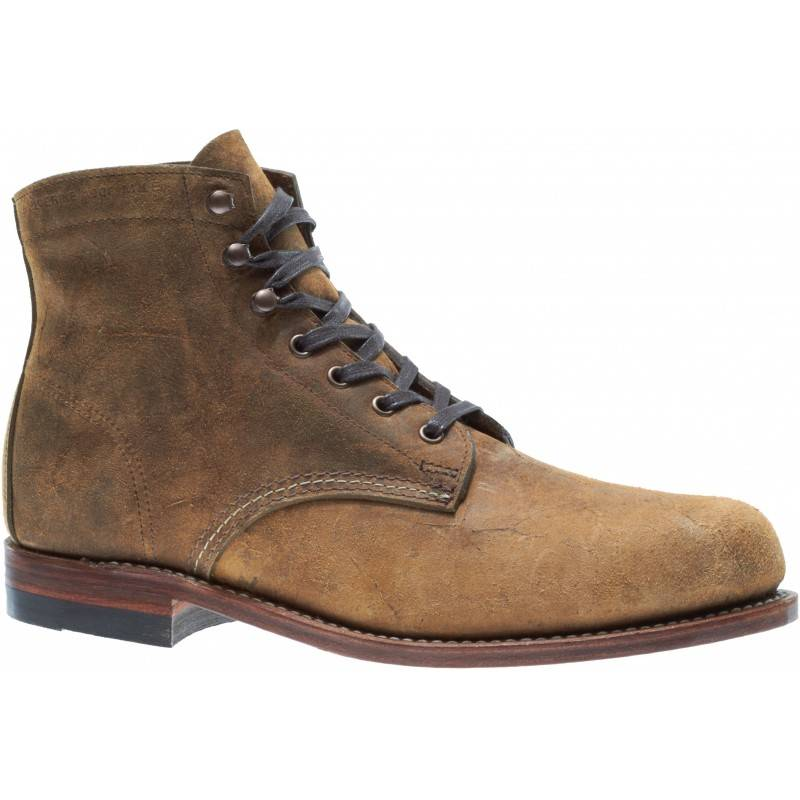 Original 1000 Mile Boot Brown Waxy Leather Men